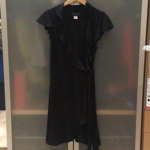 Black wrap around dress-8T